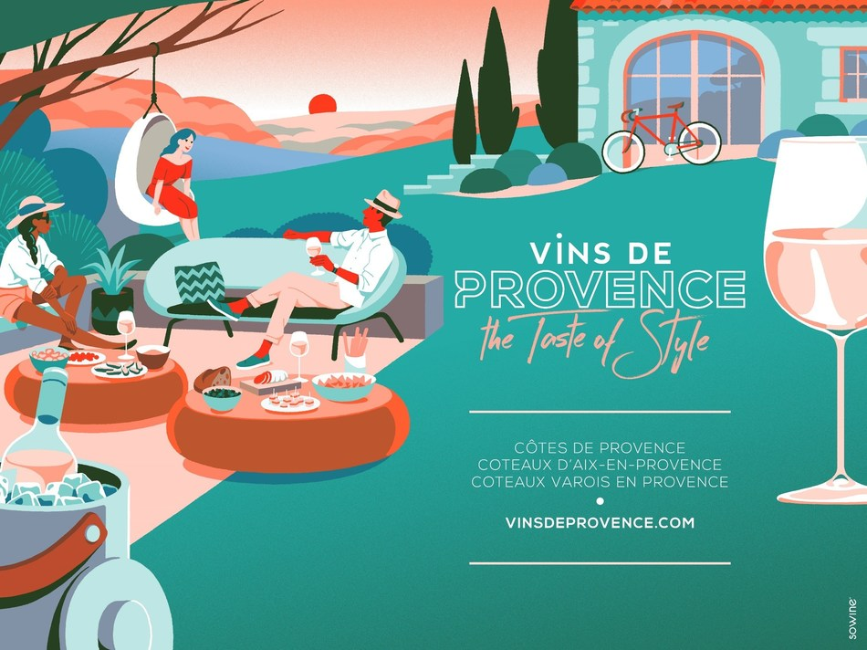 A Crisp New Twist – The Wines of Provence's new global campaign reflects the region's modernity and boldness. The campaign's signature, The Taste of Style, emphasizes the region's uniqueness: the unequalled style of its iconic dry rosé, and the inherent casual elegance of the people who both produce, and drink it.