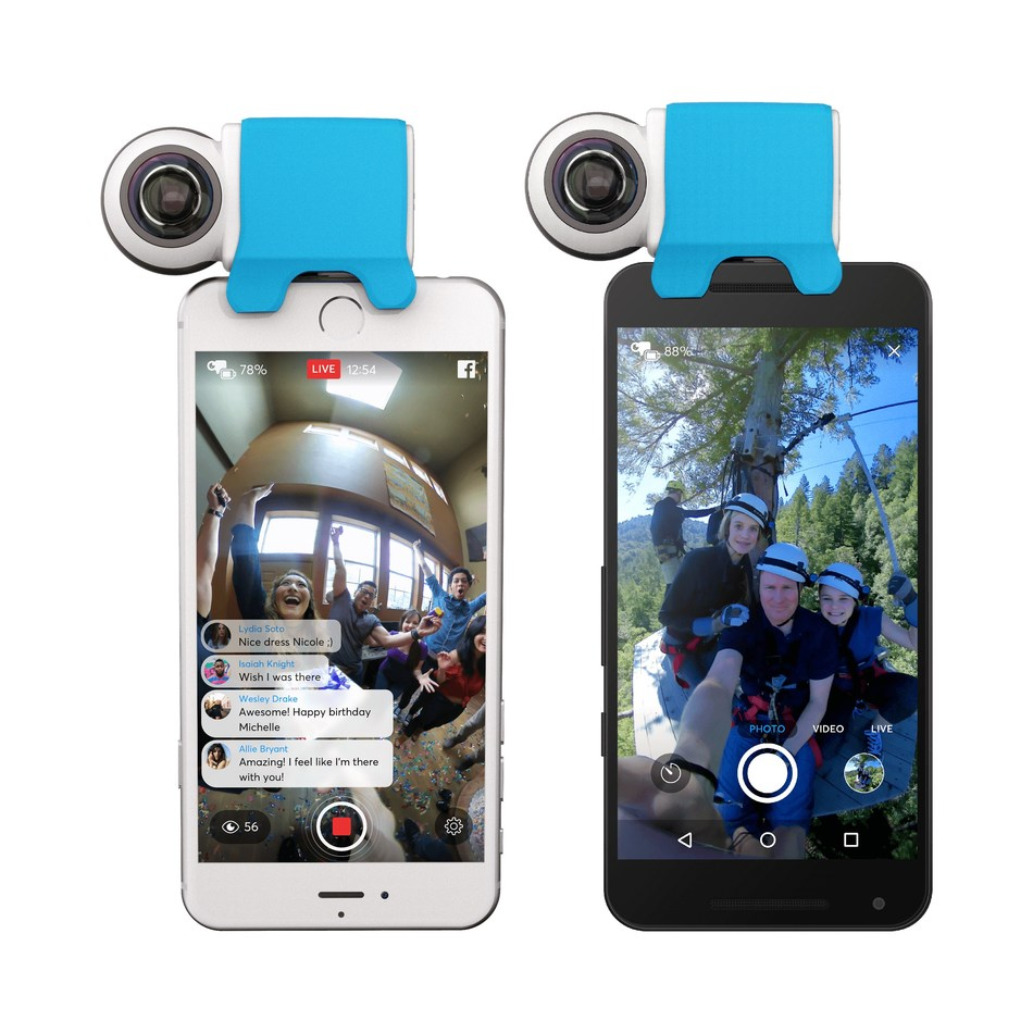 The GIROPTIC iO is a compact, portable 360° camera attachment that provides a best-in-class user experience for capturing, sharing and live streaming immersive 360° content. It is now available for Android and iOS devices.