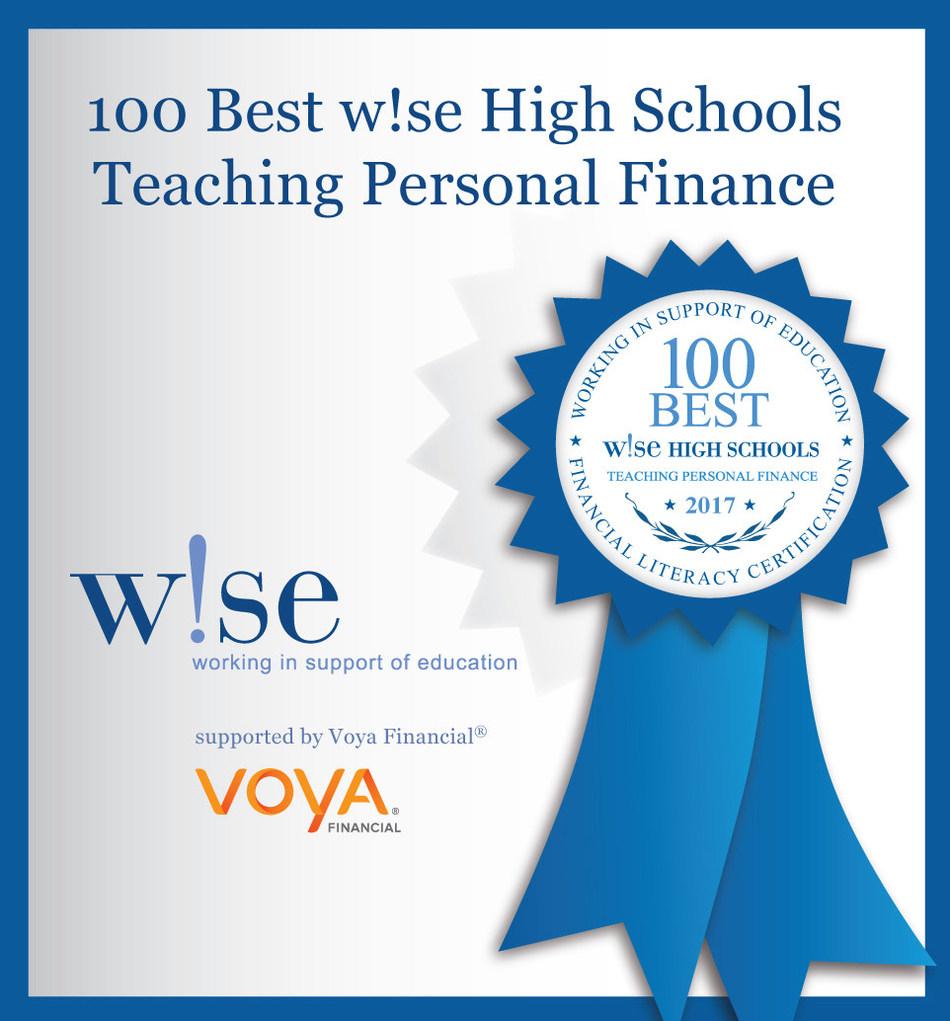100 Best w!se High Schools blue ribbon graphic