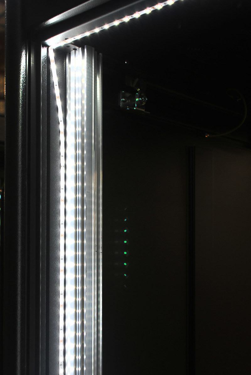 Custom LED lighting solutions to create improved visibility for system administrators working in the rear of the enclosure.