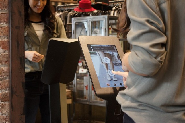 The Invertex Launch-Pad: an in-store self-use unit that enables customers to independently model both their feet in 3D in less than ten seconds, providing perfect size recommendations for every shoe model in the store as well as online.