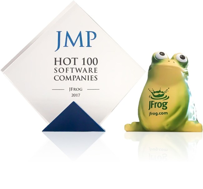 JFrog named to the JMP Securities Hot 100 list of the Best Privately Held Software (PRNewsfoto/JFrog)