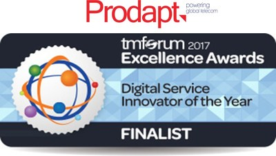 Prodapt is the finalist in TM Forum Excellence Awards 2017 (PRNewsfoto/Prodapt Solutions)