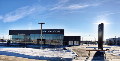 Brand-new Spruce Grove Hyundai has opened its doors. (CNW Group/Hyundai Auto Canada Corp.)