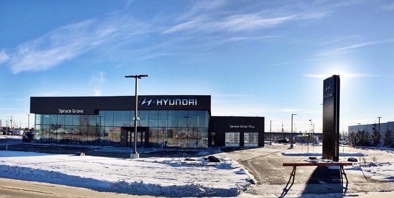 Brand-new Spruce Grove Hyundai has opened its doors. (CNW Group/Hyundai Auto Canada Corp.)