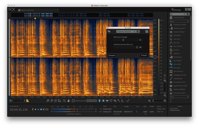 RX 6 Advanced: Editor View De-Rustle