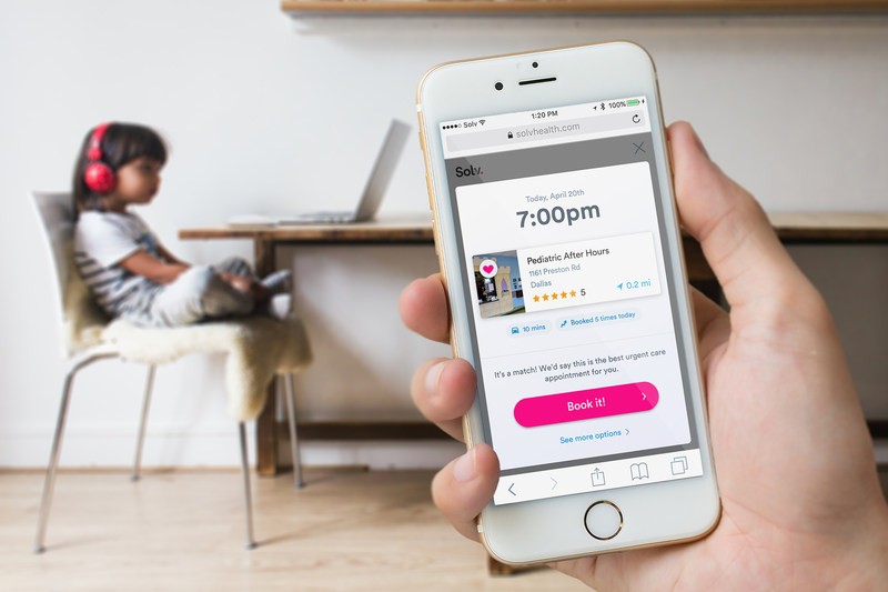 Solv's mobile-friendly product makes it easy for consumers to book a same-day urgent care appointment and skip the wait, saving them time and money.