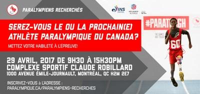 Paralympiens recherch s sera montr al le 29 avril pour for Complexe sportif claude robillard piscine