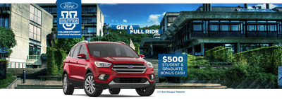 Current students and recent college graduates can receive $500 off a new Ford with Bradley Ford Lincoln.