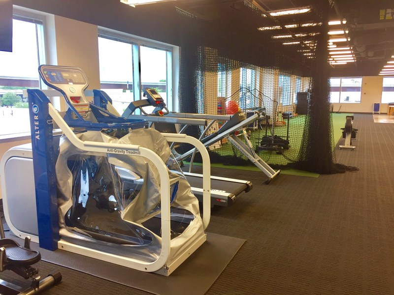 Anti-gravity treadmill at Houston Methodist Outpatient Rehabilitative Services in The Woodlands