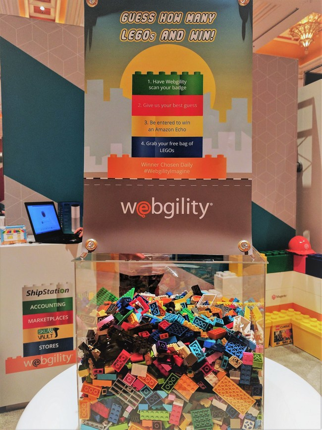 """Stop by Booth 13 and enter their """"Guess the LEGOs"""" game for a chance to win an Amazon Echo"""