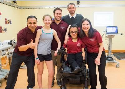 Esprit d'équipe au Centre d'analyse du mouvement (CAM) des Hôpitaux Shriners pour enfants – Canada (Groupe CNW/Hôpital Shriners pour enfants)