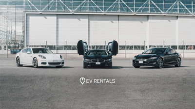 Three of the luxury cars available to rent from EV rentals. (CNW Group/EV Rentals)