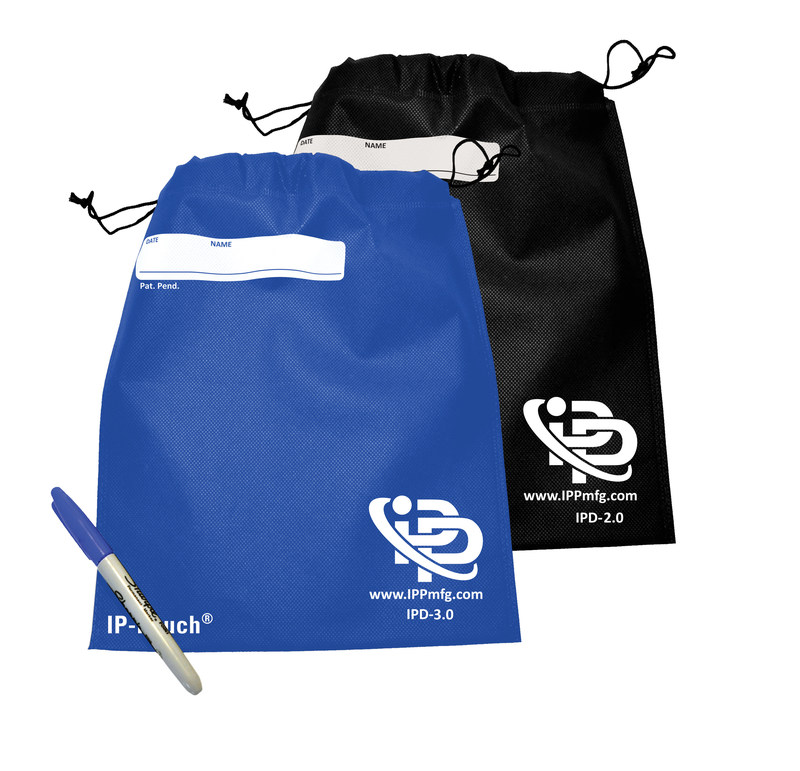 IP-Pouch comes in Royal Blue or Jet Black