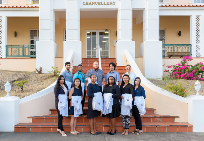 Incoming CityDoctors scholarship recipients recently visited St. George's University. The students were awarded $1.8 million this year.