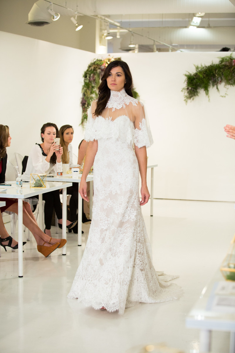 The Knot COUTURE showcases, engages and connects the bridal industry by bringing together top wedding fashion designers and retail buyers for a first look at the latest collections. Photo by Taylor Lauren Barker.