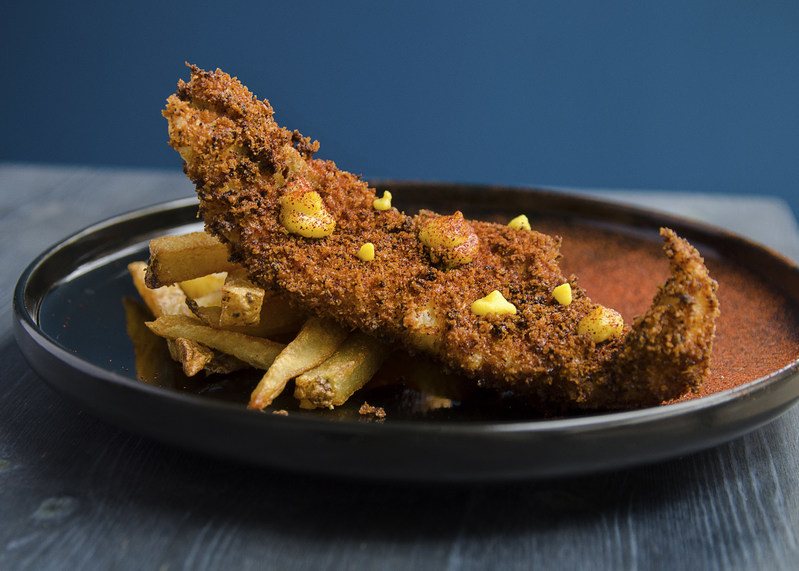 Get Hooked Simply Hooked's Sustainable Fish & Chips! Boston Mackerel With Sri Lankan Spiced Panko