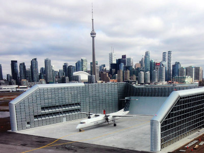 The new Ground Run-Up Enclosure at Billy Bishop Toronto City Airport. (CNW Group/PortsToronto)