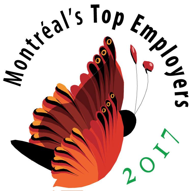 Montréal's Top Employers 2017 (CNW Group/Mediacorp Canada Inc.)