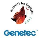 Logos: Genetec & Montréal's Top Employers 2017 (CNW Group/Genetec Information Systems Inc.)
