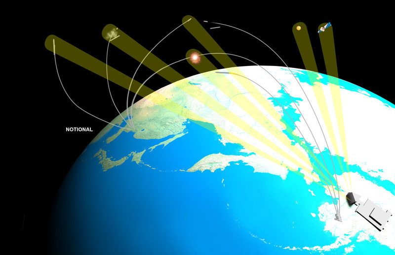 The Long Range Discrimination Radar (LRDR) is a high-powered S-Band radar incorporating solid-state gallium nitride (GaN) components capable of discriminating threats at extreme distances. LRDR is a key component of the Missile Defense Agency's Ballistic Missile Defense System (BMDS) and will provide acquisition, tracking and discrimination data to enable separate defense systems to lock on and engage ballistic missile threats. Image courtesy Lockheed Martin.