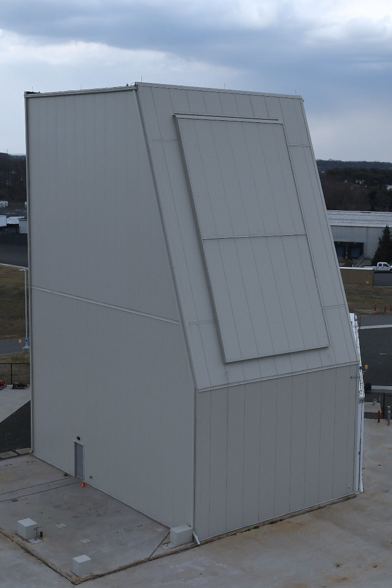 Lockheed Martin's new Solid State Radar Integration Site in Moorestown, N.J., is a self-funded test facility that will be utilized to demonstrate TRL 7 and provide significant risk reduction for development of Long Range Discrimination Radar (LRDR) and future solid state radar systems. Photo courtesy Lockheed Martin.