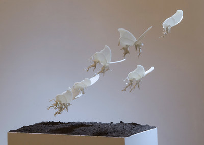 Unbearable Lightness 3D printed sculpture by Yuko Oda