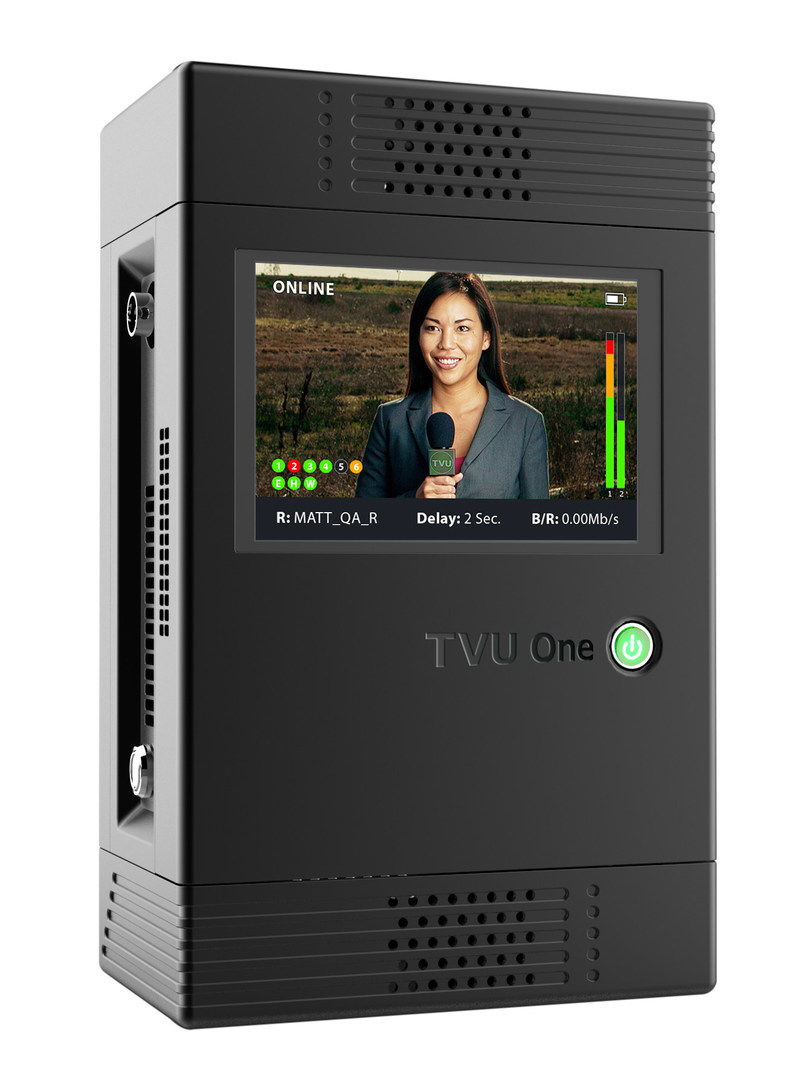 TVU One with HEVC/H.265 portable cellular transmitter