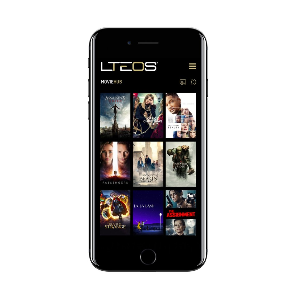 1 of 12 hub application available in LTEOS; MovieHUB (CNW Group/DataLTE Inc)