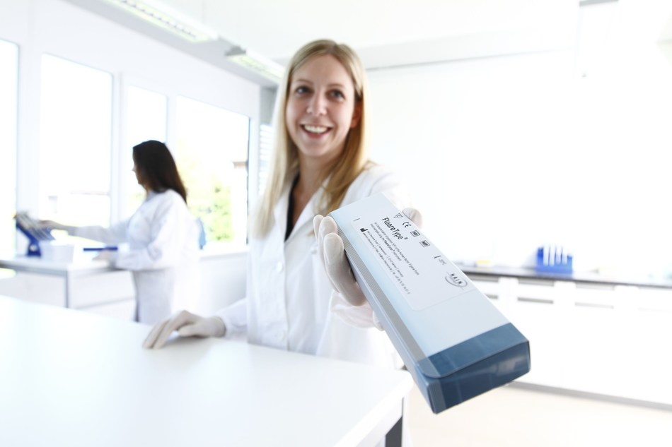 The new PCR-based FluoroType MTBDR test of Hain Lifescience relies on so-called FluoroType technology. The special features of this test are the rapid availability of results and the information depth that is achieved. (PRNewsfoto/Hain Lifescience GmbH)