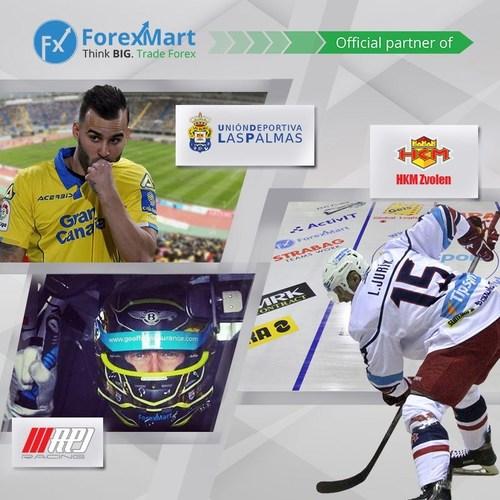"ForexMart official partner ""Las Palmas"", ""Zvolen"" and ""RPJ Racing"". (PRNewsfoto/ForexMart)"