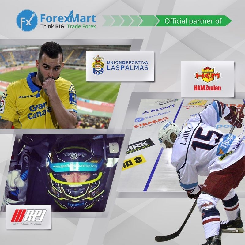 "ForexMart official partner ""Las Palmas"", ""Zvolen"" and ""RPJ Racing"". (PRNewsfoto/ForexMart)"