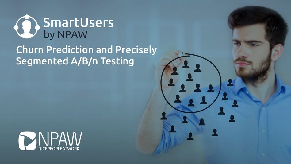 SmartUsers is the NPAW's business intelligence module for churn prediction and precisely segmented A/B/n testing. (PRNewsfoto/NPAW (Nice People At Work))