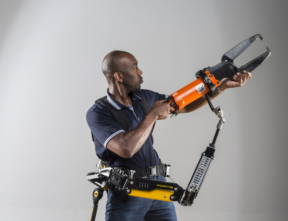 Lockheed Martin's FORTIS Tool Arm, the key component of its industrial exoskeleton, is now available as a separate product.