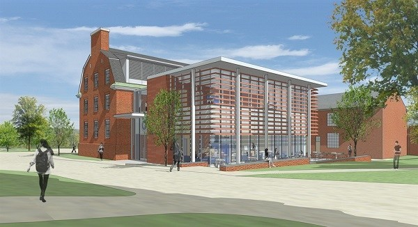 An architect's rendering of the home of DavisConnects. The renovated building will open fall 2017.