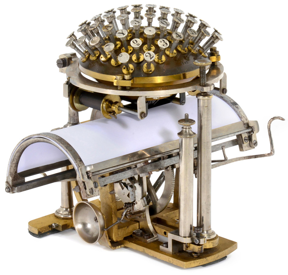 World's very 1st typewriter by Pastor Malling Hansen, 1867 (PRNewsfoto/Auction Team Breker)