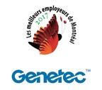 Logos: Genetec & Les meilleurs employeurs de Montréal (Groupe CNW/Genetec Information Systems Inc.)