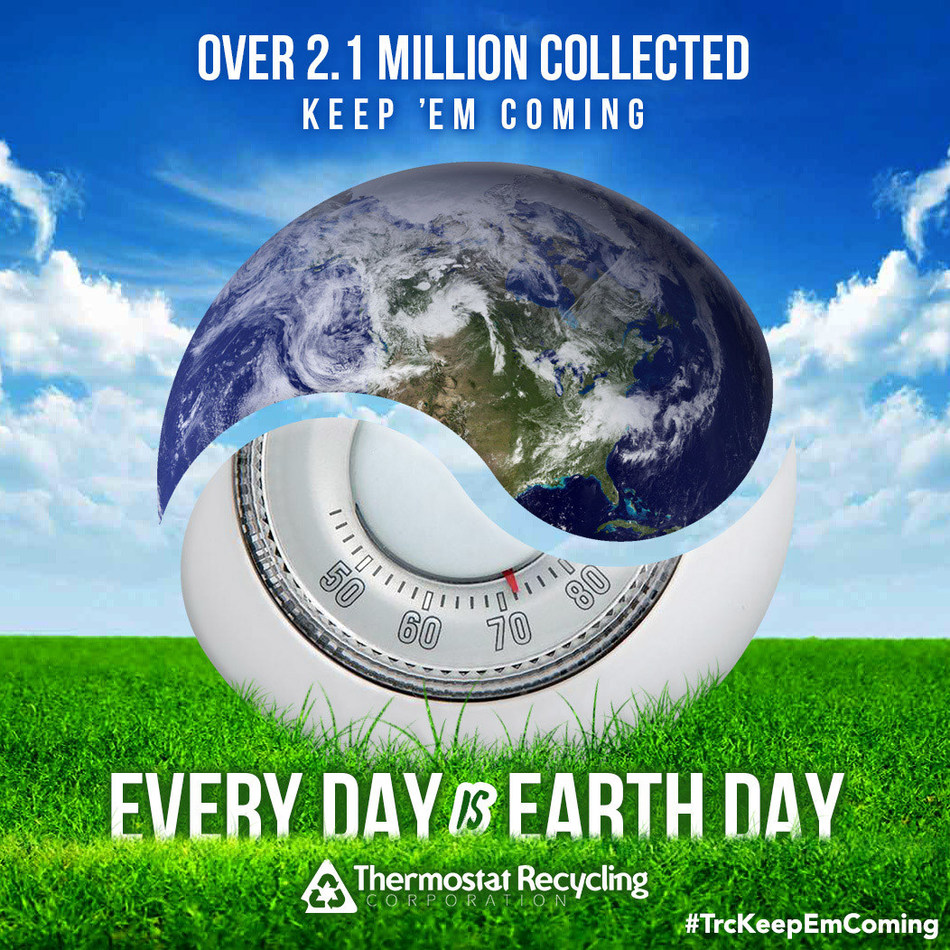 Non-mercury thermostat manufacturers, ecobee and Nest Labs, join TRC in time to help promote mercury thermostat recycling with a new Earth Month social media campaign.