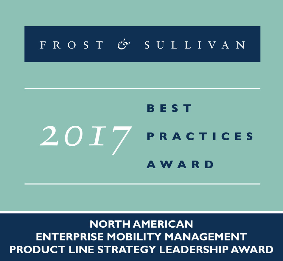 Frost & Sullivan recognizes MobileIron with the 2017 North American Product Line Strategy Leadership Award.