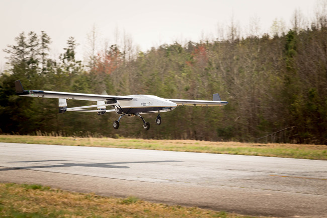 A NASC TigerShark UAV will soon undergo flight demonstration with the UAV Turbines UTP50R Turboprop Engine on a TigerShark XP similar to the one pictured above, which is now owned by the Georgia Tech Research Institute. Credit: Navmar Applied Sciences Corporation