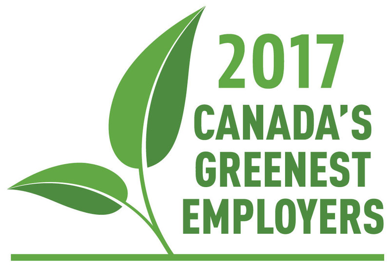 2017 Canada's Greenest Employers (CNW Group/Mediacorp Canada Inc.)