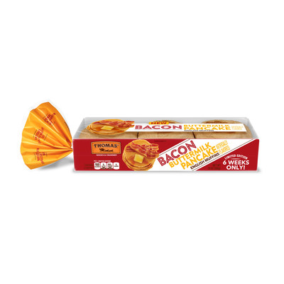 NEW Limited Edition Thomas' Bacon Buttermilk Pancake English Muffins