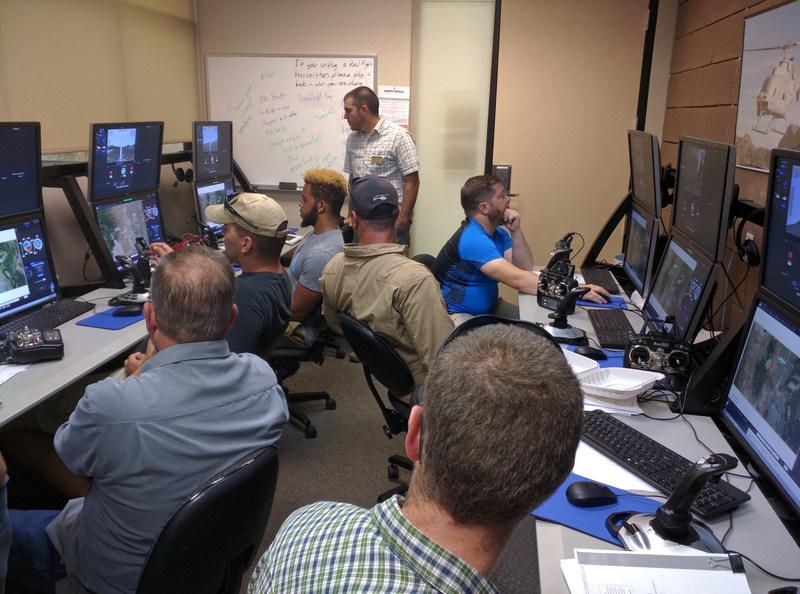 Picture taken during training on IMPACT at ERAU