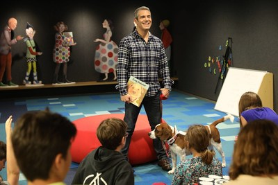Andy Cohen engages with students while leading a lesson on Thursday, April 20, 2017 in New York. Along with a $20,000 donation to North Shore Animal League America's Mutt-i-grees program, Purina ONE is partnering with Mutt-i-grees and Andy Cohen as part of its ONE Difference Campaign, which focuses on nourishing the lives of both students and shelter dogs across the country. (Amy Sussman/AP Images for Purina ONE).