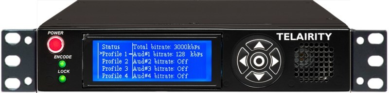 Telairity BE8600 HD/SD 4:2:0/4:2:2 Half-Width 1RU Contribution Encoder