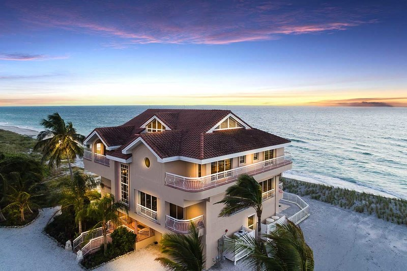 Gulf-Front Home on Exclusive Siesta Key Selling at Auction
