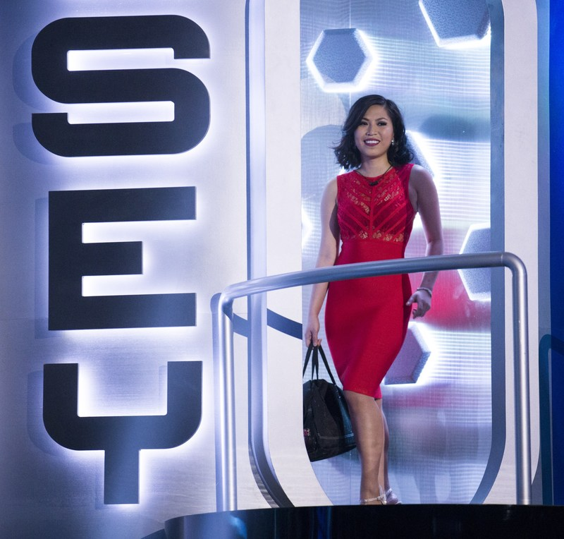 Evicted second chance houseguest Sindy Nguyen of Toronto, Ont. exiting the BBCAN Odyssey (CNW Group/Global Television)