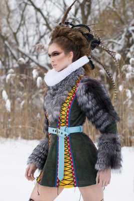 """Iris Alibali is a graduate of Fashion Techniques and Design. """"THE REMIX-CANADA 2017 COMPETITION First prize winner - Best all-over design Iris Alibali - George Brown College, Toronto"""" (CNW Group/George Brown College)"""
