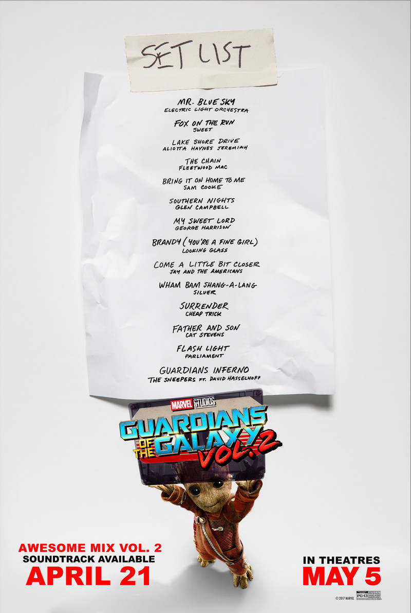 Guardians of the Galaxy Vol. 2: Awesome Mix Vol. 2 Track List