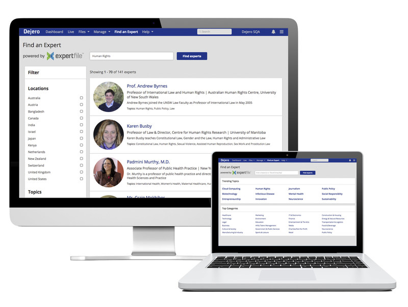 Dejero LIVE+ Control management system now provides immediate direct access to ExpertFile (CNW Group/Dejero)